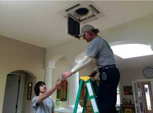 Mini-split ductless heating and cooling installation in Ashland